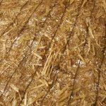 Natte de paille avec tissu en jute