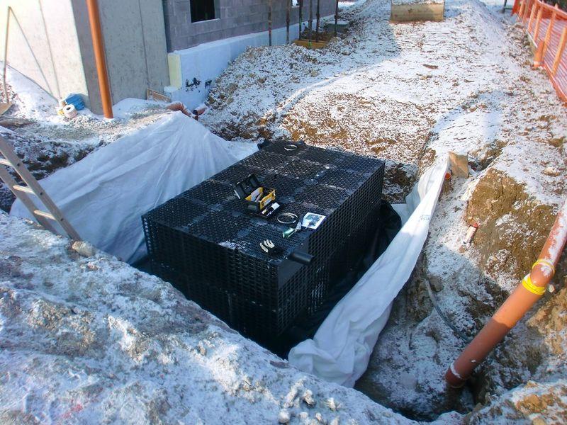 Regenwasserspeicher und Rückhaltung/Retention in Coussey