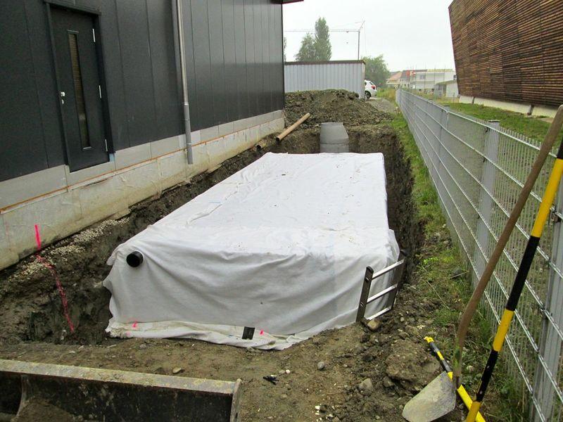 Enregis - Regenwasserversickerung/Infiltration in Chénens