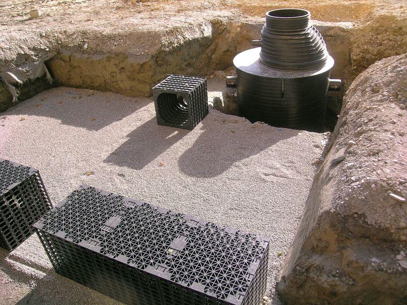 Regenwasserspeicher und Rückhaltung/Retention in Vouvry