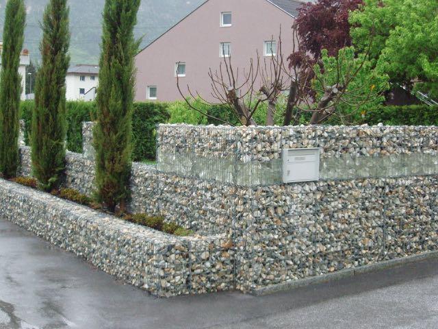 Referenzen U2013 Steinkörbe Als Stützmauer Oder Sichtschutz